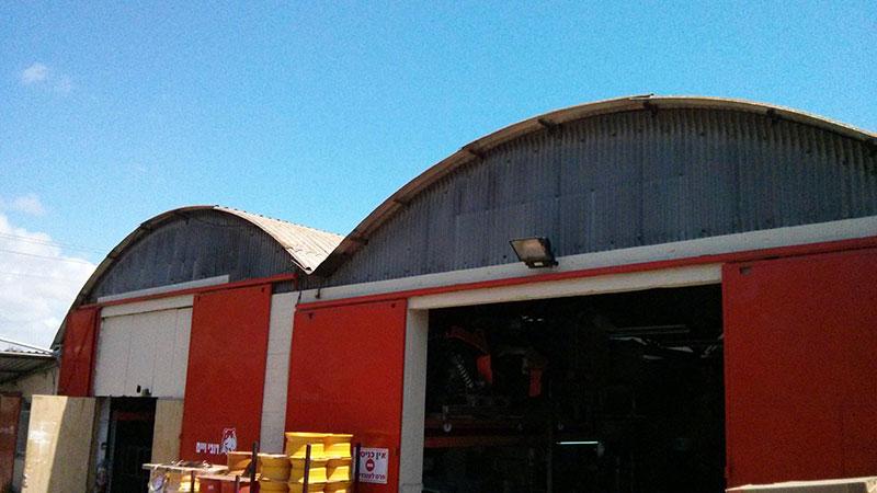 עבודות אסבסט: החלפת גג אסבסט לפנל מעוגל